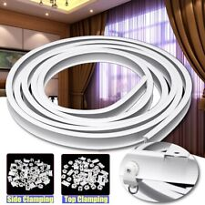 Curtains Track Rail Flexible Ceiling Mounted For Straight Slide Window 4M #1