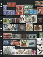UK GB stamp collection 44 stamps United Kingdom Great Britain high denominations
