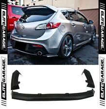 Mazda 3 MPS BL - Rear Bumper Diffuser Lip Apron Dual Exhaust Hatch (09-13) PU