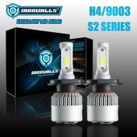 IRONWALLS H4 9003 HB2 LED Headlight Bulb Kit Hi-Lo Beam 2000W 6000K Super White