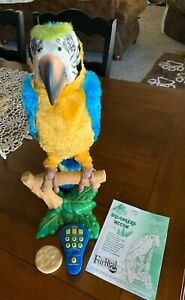 Hasbro FurReal Friends Squawkers McCaw Parrot w Remote, Cracker and Instructions