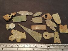 Lovely lot of Roman to Medieval bronze mainly strap ends & other artifacts L20x