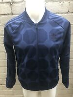 Adidas Originals Track Top Size 16 Blue Short Women's Jacket Vintage Retro