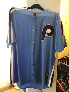 Men's Philadelphia Phillies Bryce Harper Majestic Light Blue Cooperstown Jersey