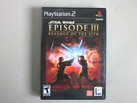 Star Wars: Episode III: Revenge of the Sith (Sony PlayStation 2, 2005) w/ Manual