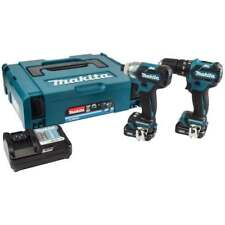 Makita CLX205AJ 10.8 V Twin Pack Brushless HP332 TD111 2 batteries chargeur + ét...