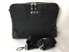 "Tumi Georgetown Slim Laptop Attache Womens Briefcase ""Crocodile"" Leather & Nylon"