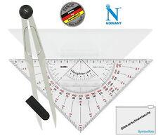 Navigationsset Navigationsbesteck Marinezirkel Kursdreieck NEU! Set 5000 S