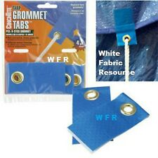 4 pk peel/stick Grommet Tabs EZ INSTALL on Tyvek and plastic sheets