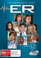 ER : Season 12 (DVD, 2008, 6-Disc Set) good to very good condition