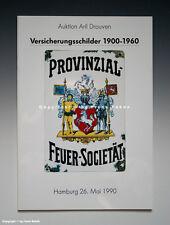 Auktionskatalog Versicherungsschilder 1900-1960 (Mai 1990)