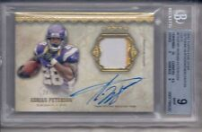 ADRIAN PETERSON 2012 TOPPS FIVE STAR VETERAN AUTOGRAPHED PATCH GOLD BGS 9/AU 10