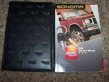 1992 GMC Sonoma Owner Owner's User Guide Operator Manual GT S Special V6 4Cyl