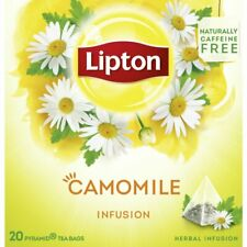 LIPTON Herbal Infusion Camomile 6 x 20 bags = 120 pyramid tea bags sealed boxes