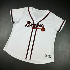 100% Authentic Majestic Braves Cool Base Jersey Women Size 2XL
