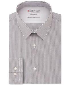 Calvin Klein Men's Extreme Slim Fit Temperature Regulating Shirt XL 17.5 32-33