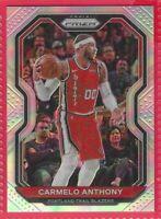 2020-21 Prizm Carmelo Anthony silver Prizm  #154 Portland Trailblazers