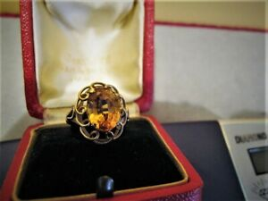 18ct GOLD AND GOLDEN SAPPHIRE RING - VALUATION $2650 ON THE 9/06/2016 INCLUDED