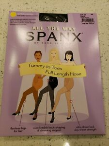 Spanx All the Way by Sara Blakely Tummy to Toes Full Length Hose Black Size B
