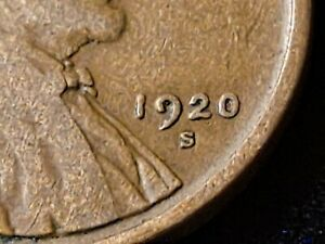 1920-S Lincoln Wheat 1 Cent Penny Nice Coin