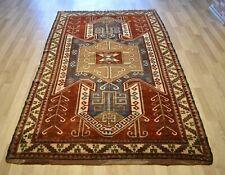 1890's Genuine Collector's Antique Caucasian Turko-Kazak Geometric 6 Ft x 9 Ft