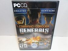 Command & Conquer Generals PC CD Deluxe Edition 4 Discs Booklet Included