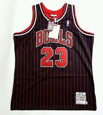 100% Authentic Michael Jordan Mitchell Ness Pinstripe 95 96 Bulls Jersey XL 48
