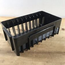 Vintage Stako Black Plastic Cassette Storage Rack Tray Box Holds 10 Cassettes