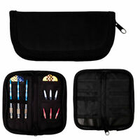 Darts Accessories Carry Case Wallet Pockets Holder Storing Black Bag F5X2 C6N2