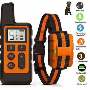 Yard Remote Electric Dog Shock Collar Waterproof IP67 Pet Anti-Bark Training
