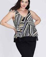 Womens plus size Tank Lane Bryant Double-Layer Shell Top 22,24 3X Retail $44.95