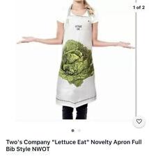 "New listing Two's Company ""Lettuce Eat"" Novelty Apron Full Bib Style New"