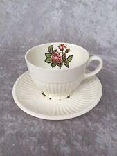Wedgwood Etruria MOSS ROSE Bone China Cup & Saucer No T432