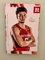 RUTGERS BASKETBALL 2020-2021 MEDIA GUIDE GEO BAKER / JACOB YOUNG  YEARBOOK STYLE