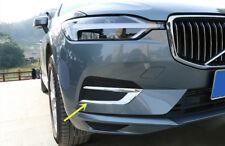 For VOLVO XC60 2018 ABS Chrome Front Fog Light Decoration Strip Upper Trim 2pcs
