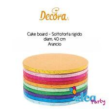 CAKE BOARD SOTTOTORTA CELESTE diam. 40 cm vassoio torta tondo colorato Decora