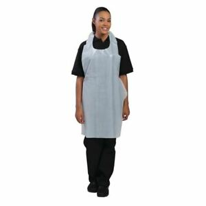Unisex Professional Apron - Lightweight - in White Size OS