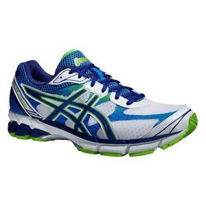 Asics Gel Stratus White / Navy / Flash Green Trainers Running Shoes UK  11 - 13