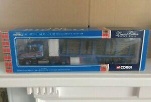 Boxed Corgi 1/50 Scale Die Cast Ltd Ed Scania T Log Trailer 'J & G Riddell Ltd'