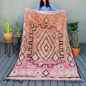 Moroccan rug Beni Ourain berber carpet, vintage design from Atlas  mountain