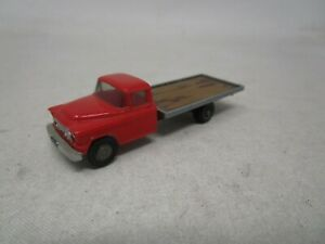 Wiking Plastic Car *FLATBED TRUCK (RED)* 1:87 HO SCALE  Made In W. Germany