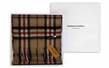 Thompson Tartan Sciarpa Marrone Cammello-LINEA UOMO DONNA 100% pura lana scatola regalo (Thom-W)