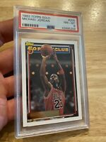 Michael Jordan PSA 8 NM Topps GOLD 1992 #205 Chicago Bulls INVEST Last Dance NR