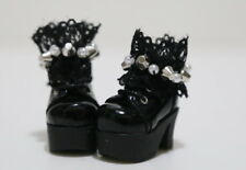 Custom SHOES Boots For Blythe/Pullip/Lalaloopsy/Hujoo/Obitsu/Dal: B8_131, Black