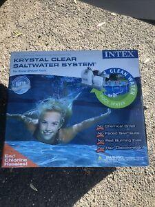 INTEX krystal clear saltwater system NEW IN ORIGINAL OPEN BOX