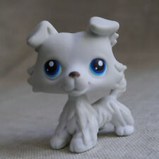 Grey white LPS COLLECTION LITTLEST PET SHOP #363 Deep Brown Collie dog TOY 2""