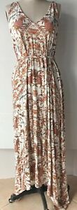 LUCKY BRAND WOMEN'S PAISLEY PRINT KNIT TANK MAXI DRESS XL
