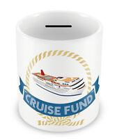CRUISE FUND Money Box - Piggy Bank Gift Idea Holiday Coins pot Savings jar #72