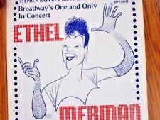 ETHEL MERMAN 1974 CONCERT AL HIRSCHFELD ARTWORK 13x22 Original Movie Window Card