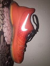 Kevin Durant Kids Basketball Shoes Color Orange Size 4 1/2 In Good Condition